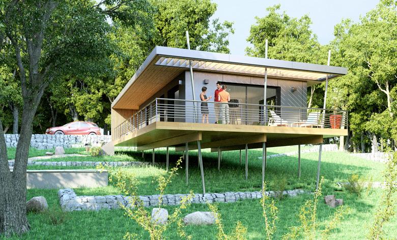 Construction d'une maison pop up en Ardèche avec un budget serré