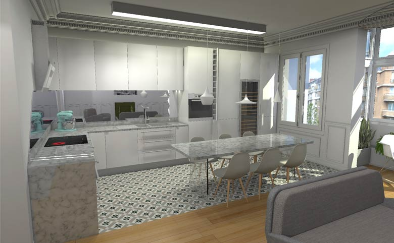 Architecte d int rieur lyon travaux de r novation et for Cuisine conception