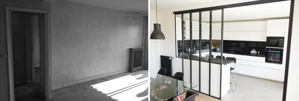 Bien-aimée Avant - Après : Aménagement d'un appartement avec un coin bureau #XP_26
