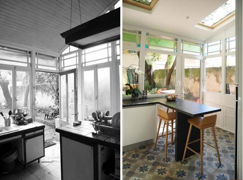 Cuisine rénové par un architecte d'intérieur