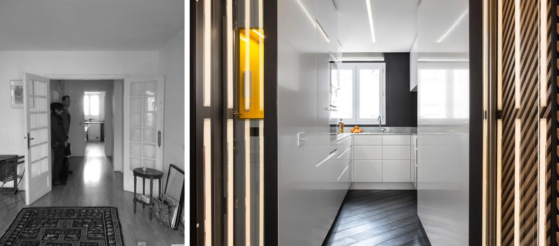 Rénovation d'une cuisine par un architecte d'intérieur cuisiniste