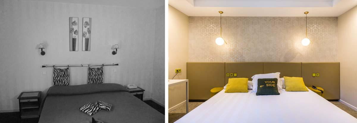 Avant - Après de la rénovation d'un hôtel luxueux