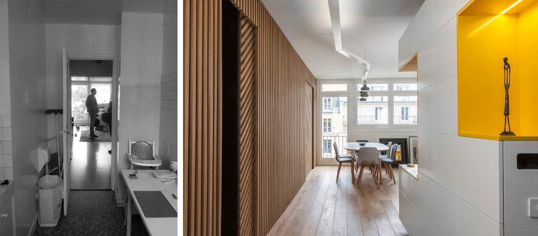 Aménagement de l'entrée d'un appartement 3 pièces de 63 m2