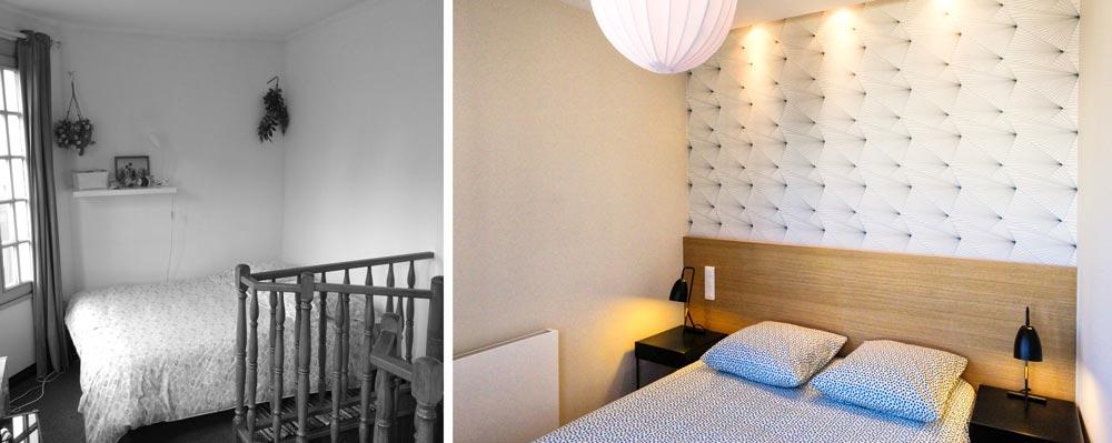 Aménagement d'une chambre parentale par un architecte d'intérieur