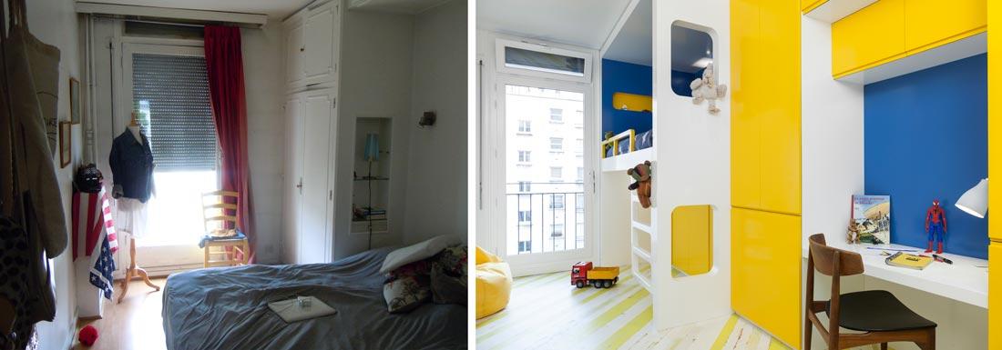 Création d'une chambre d'enfant dans un appartement 3 pièces