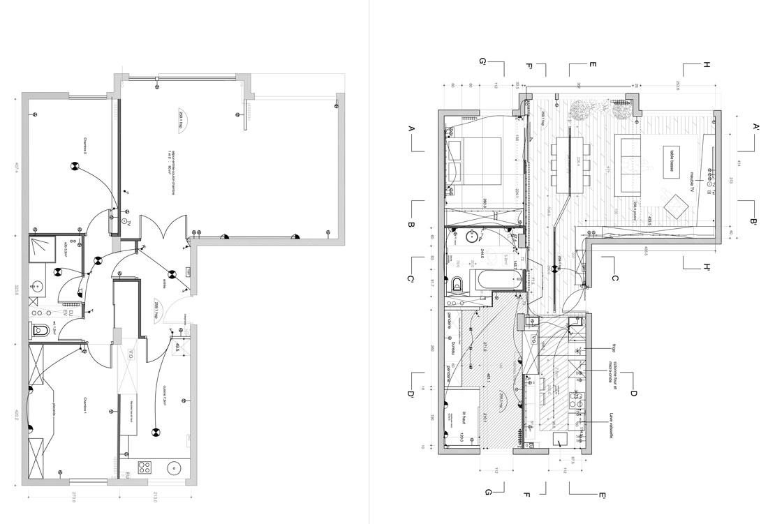 R novation d 39 une appartement 3 pi ces par un architecte d for Appartement atypique lyon 2