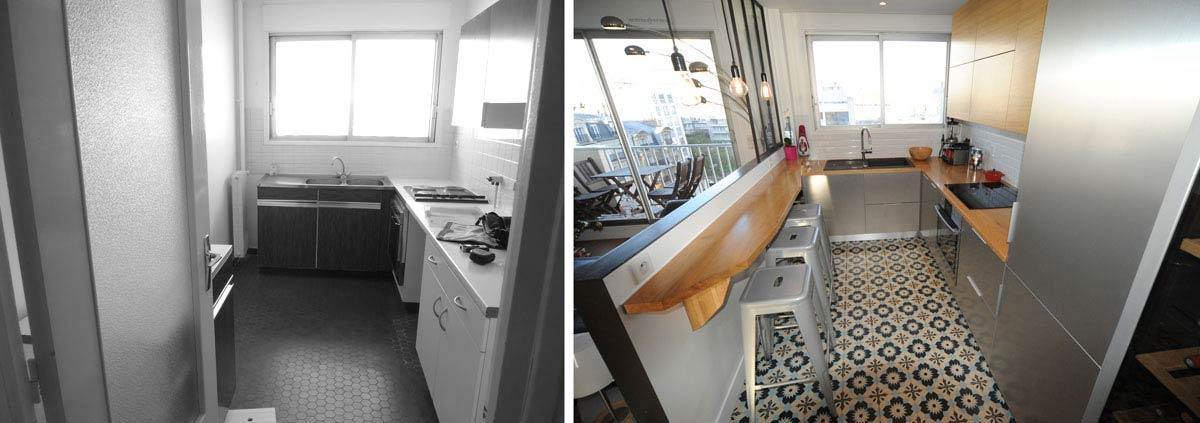 Réalisation d'une cuisine équipée design par un architecte d'intérieur