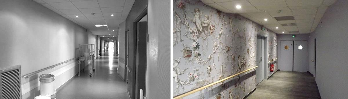 Rénovation d'un batiment de santé par un architecte d'intérieur