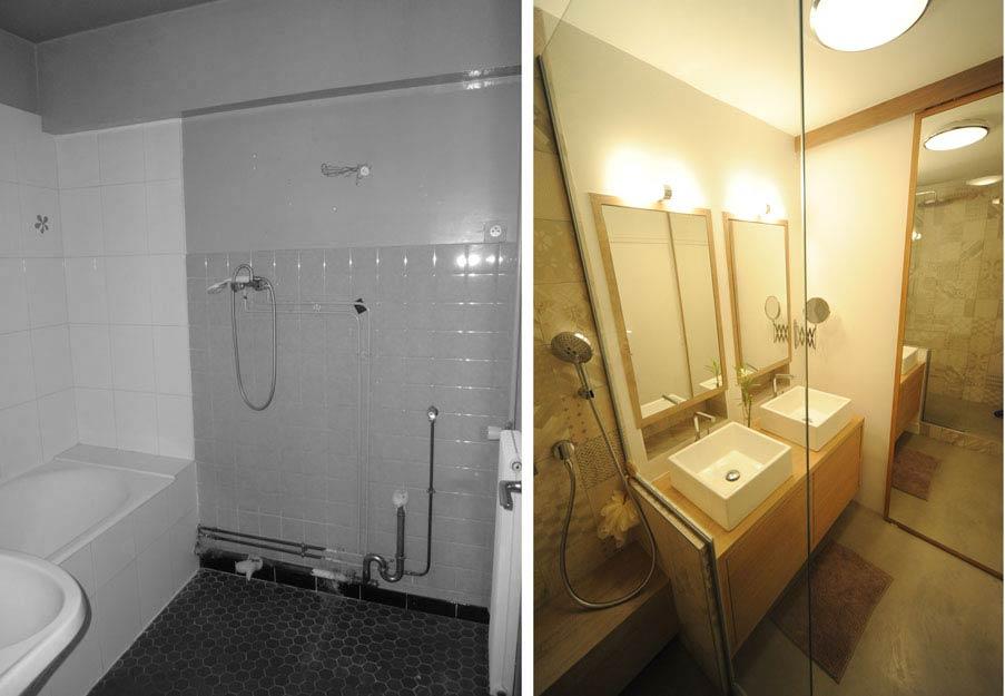 Rénovation d'une salle de bain lumineuse