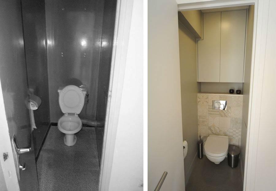 Rénovation des WC d'un appartement par un architecte d'intérieur