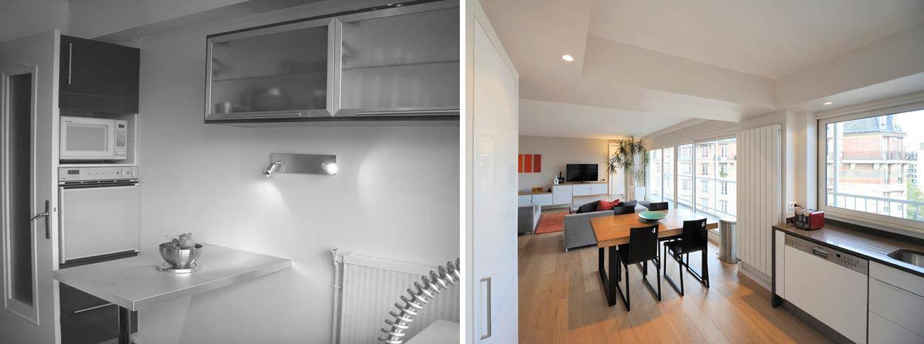 Aménagement d'une cusine ouverte par un architecte d'intérieur