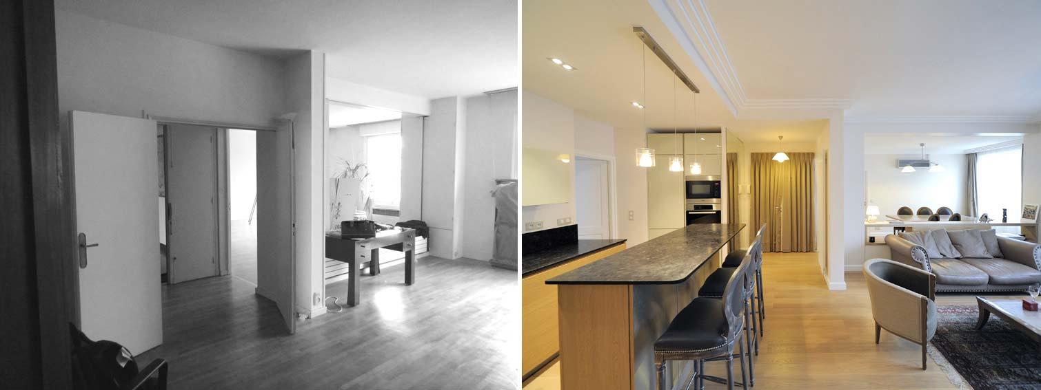 Avant apr s transformation d 39 un bureau en appartement de 85m2 - Avant apres appartement ...