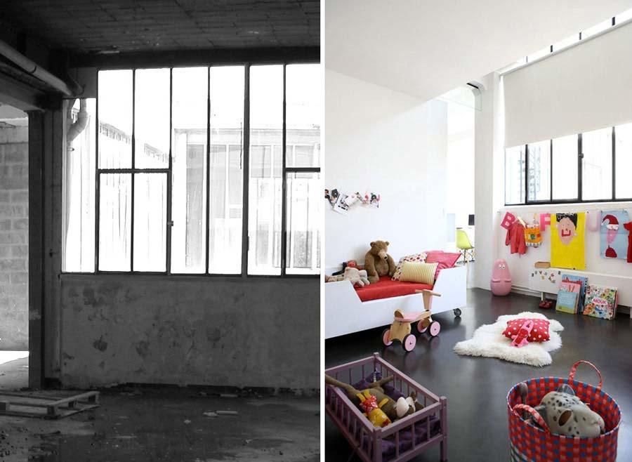Aménagement chambre d'enfant dans un loft par un décorateur d'intérieur