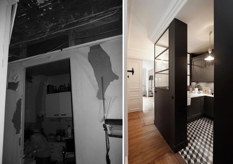 Rénovation d\'un appartement 4 pièces 90m2 de style haussmannien