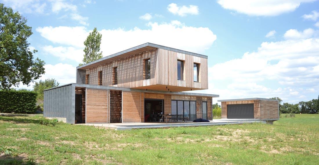Maison d\'architecte bois et béton esprit Loft