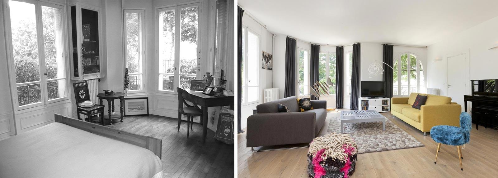 Relooking d\'intérieur d\'une maison individuelle de 5 pièces à Lyon