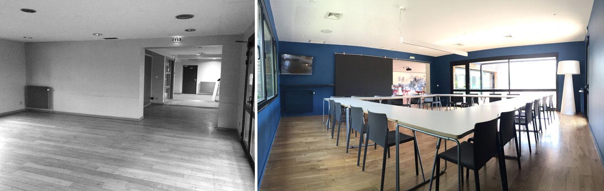 Avant - Après : Aménagement d'une salle de réunion par un architecte d'intérieur