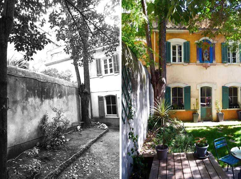 Before After Garden Of A Town House
