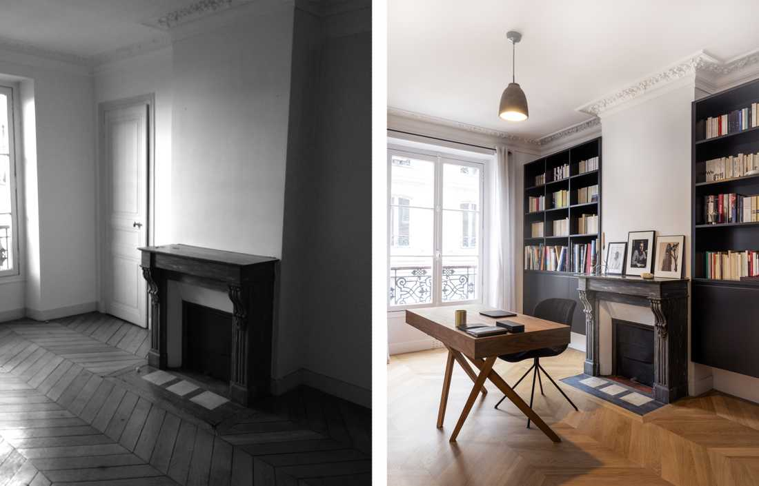 Haussmann apartment 4 rooms after renovation works by an architect