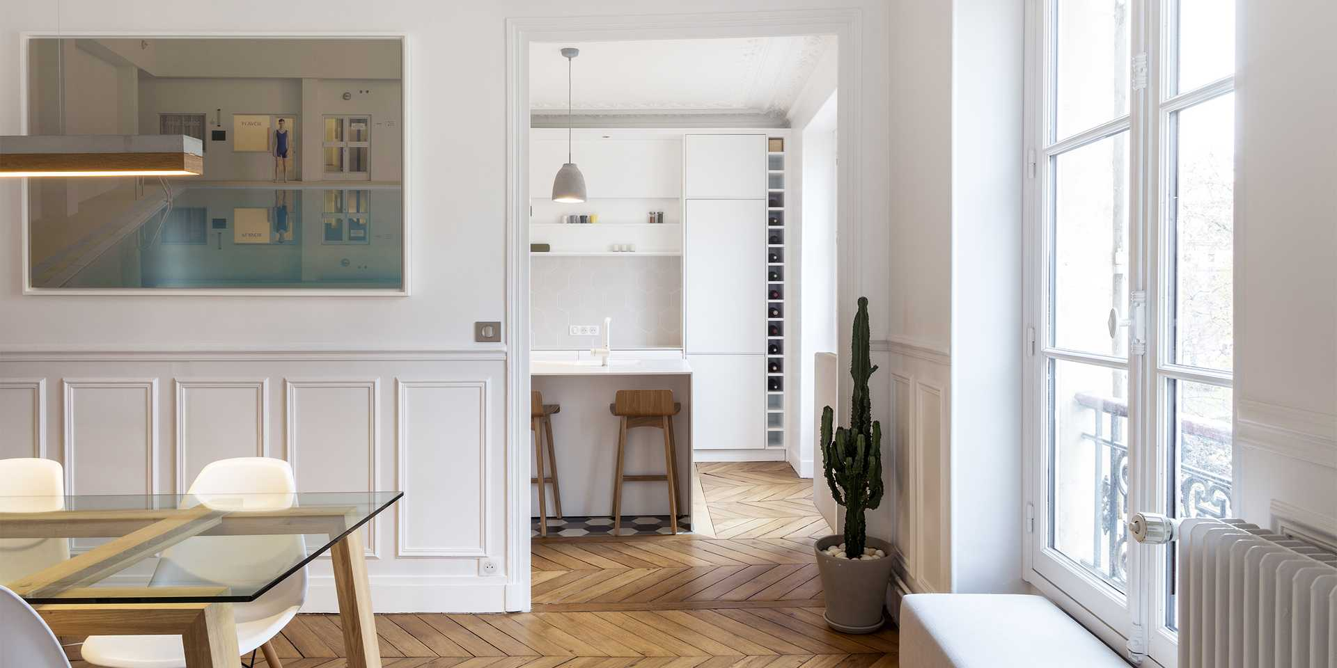 Haussmannian apartment redesigned by an architect in Lyon